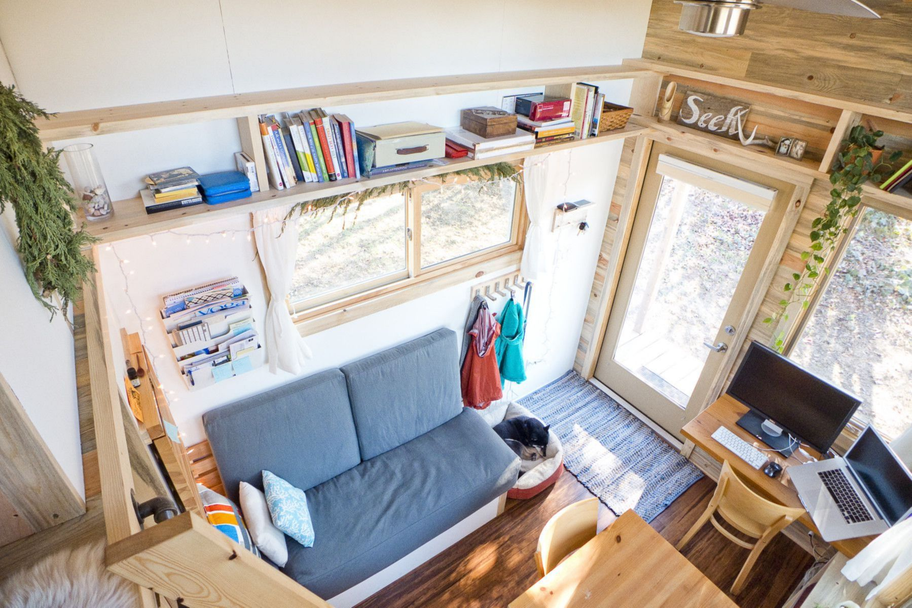 Largest Tiny House sprout tiny homes man cave model Largest Tiny House Bedroom And Living Room Image Collections