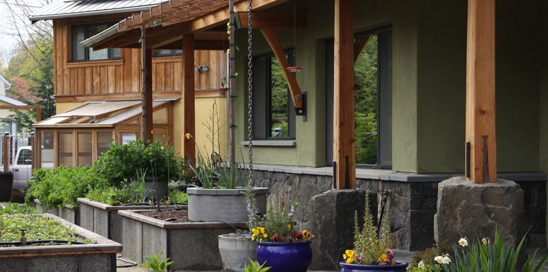 Every square foot responds to the existing features of the site to feed and house its owners while minimizing water ...