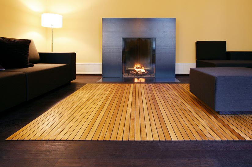 Legno-legno wood carpet by Ruckstuhl
