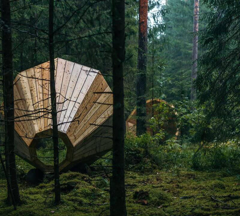 Estonia megaphone installation nature sounds
