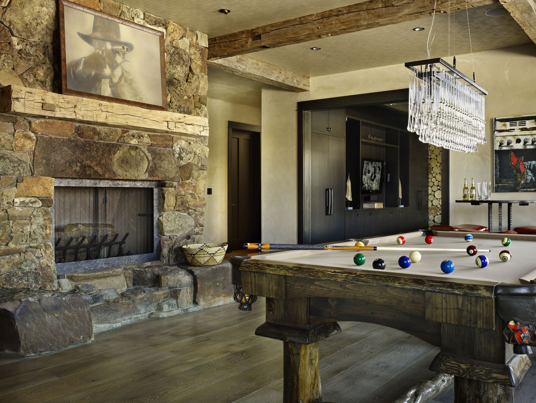 High alpine mountain ranch woodz for Pool with fireplace