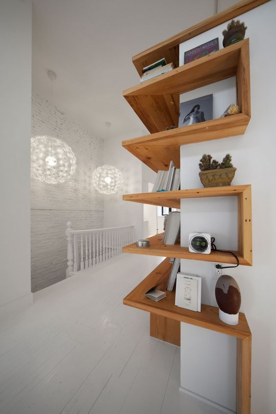 Corner Wooden Shelf Ideas