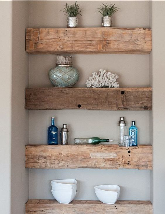 Reclaimed Solid Wood Shelves Ideas