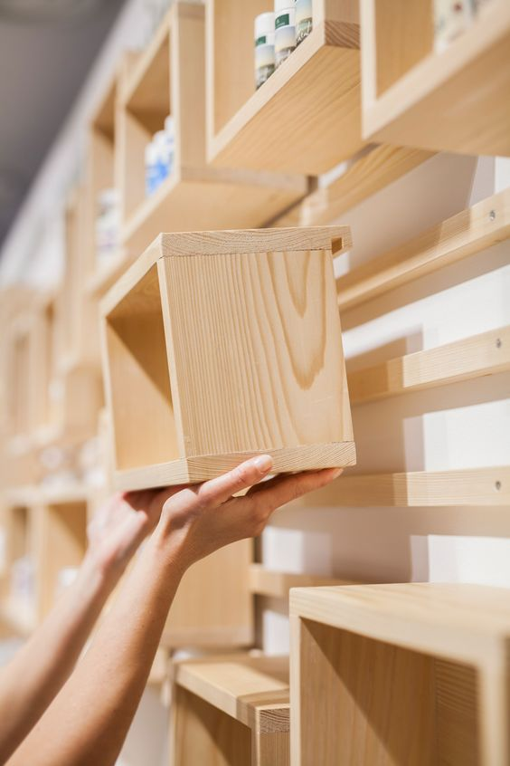 Wooden Cube Shelf Ideas