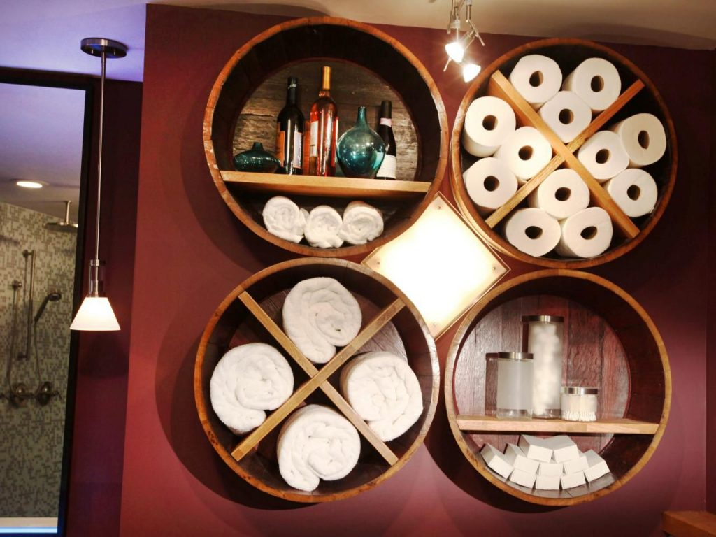 Bathroom Circle Shelf Ideas