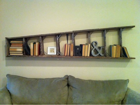 Old Ladder Shelf Ideas