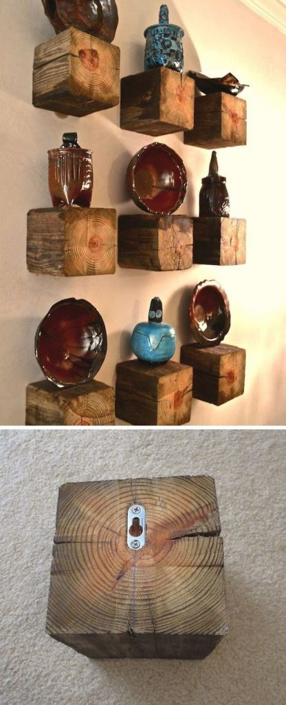 Wood Post Shelf Ideas