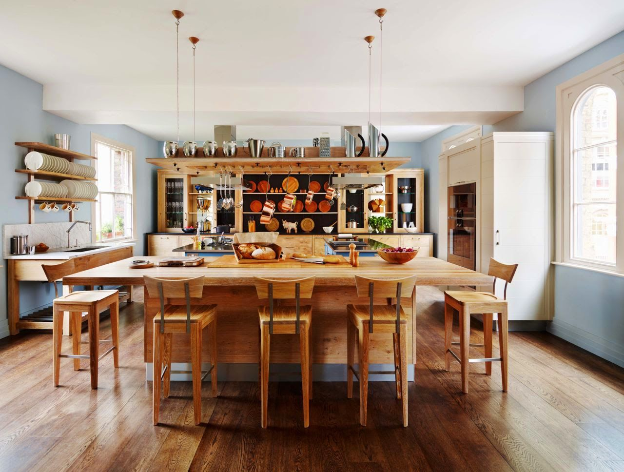 family gather kitchen wood deatils