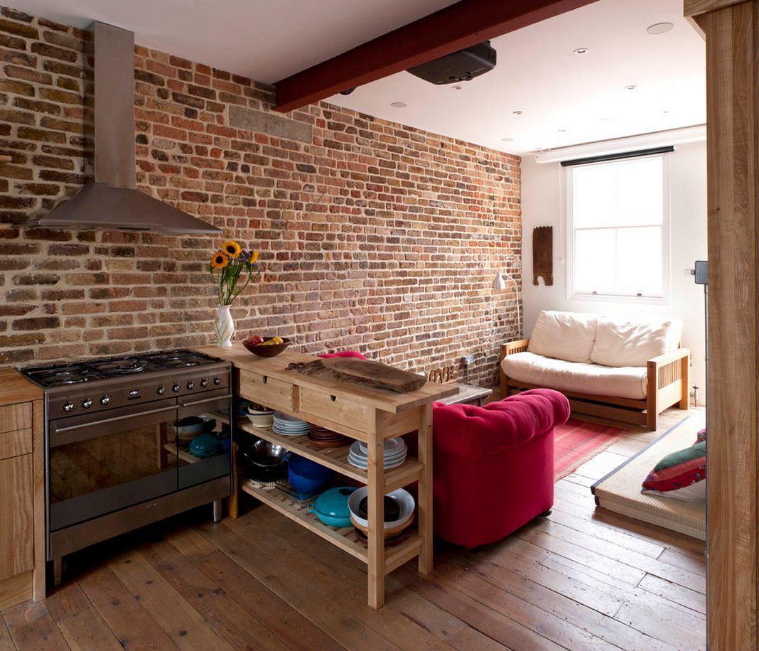7 kitchen ideas woodz for Brick kitchen ideas