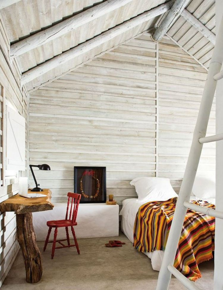 Warm Wooden Cabin Interior Idea