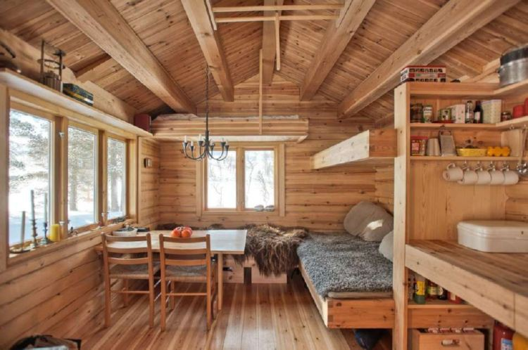 9 cabin interior ideas woodz for Small cabin interiors photos
