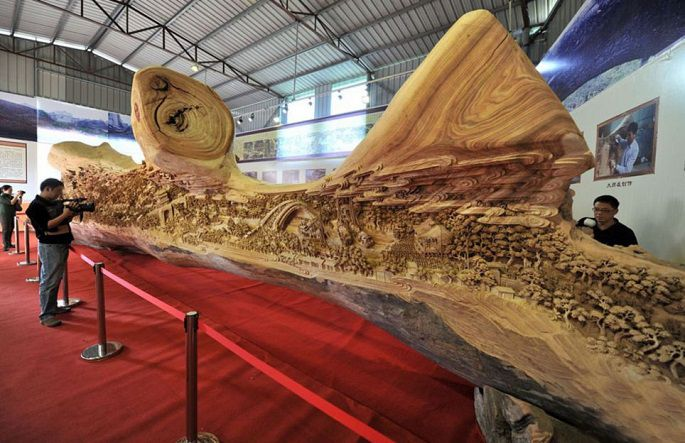 Chinese wooden Art Carving