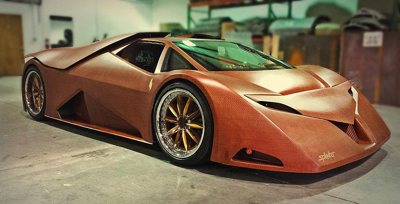 Wooden V8 Sports Car