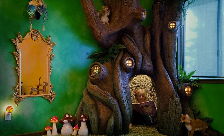 A very special dad took on the task to transform his daughter's bedroom into a fairytale land. There is even ...