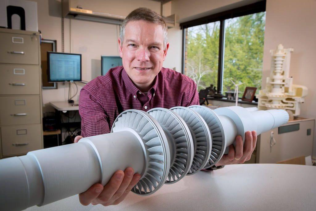 Desksize Turbine producing energy from CO2