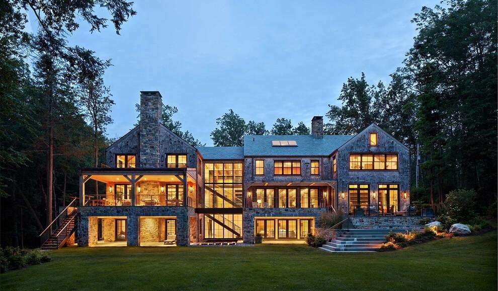 Modern lake house woodz for Modern lake house plans