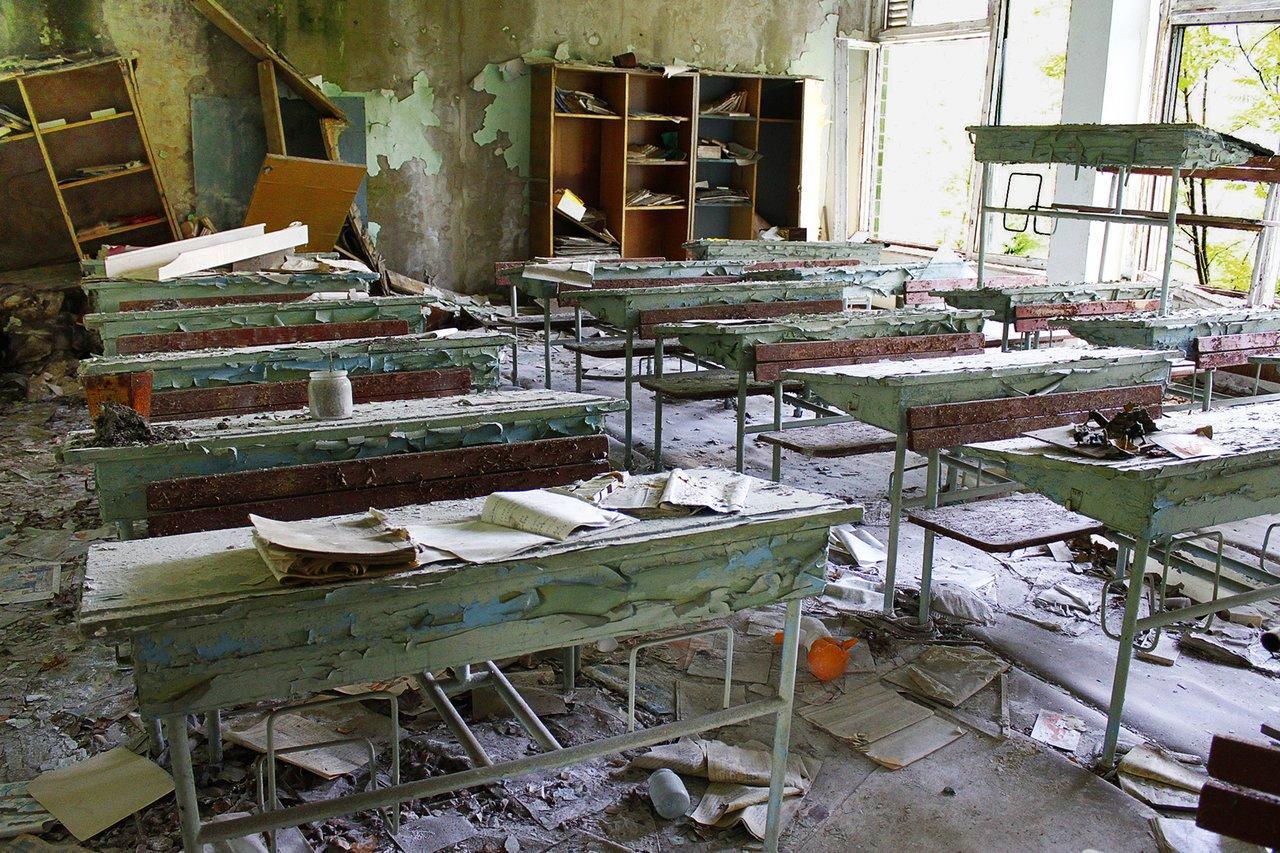 School in pripyat after chernobyl catastrophe