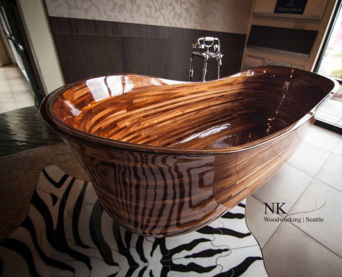 Wooden bathtub ideas