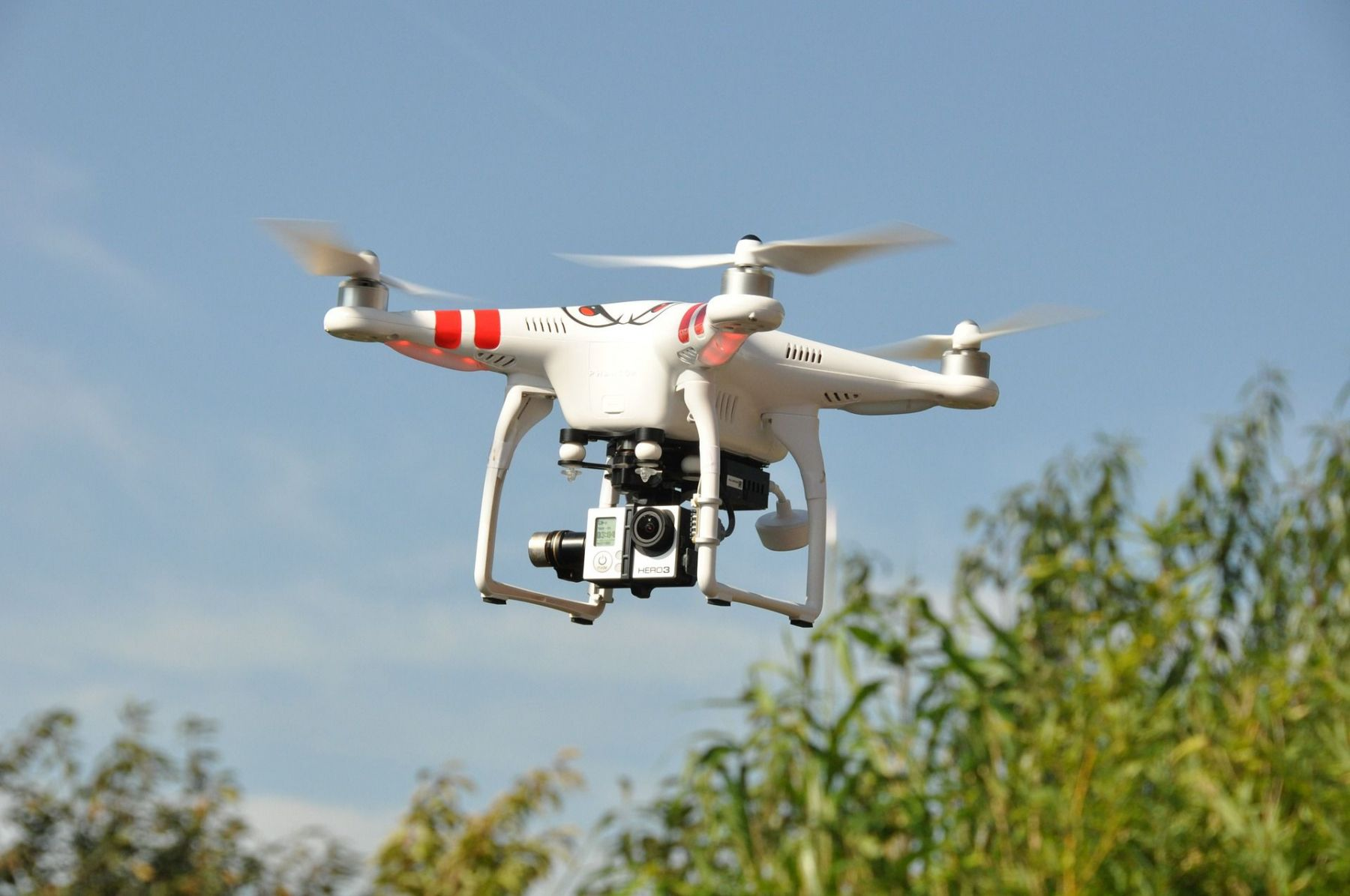 Drones finding people lost in the woods