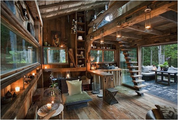 Rustic New York Cabin in the woods