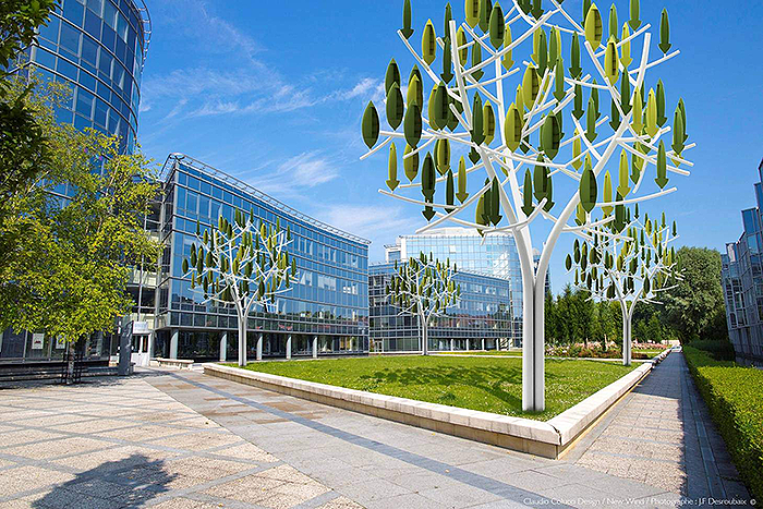 Wind turbines that look like trees