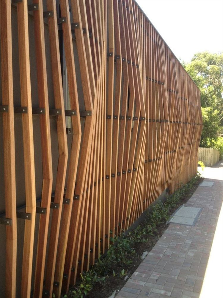 15 wooden fence ideas woodz for Wood screen fence