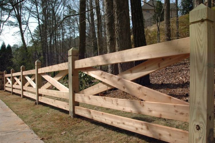 15 wooden fence ideas woodz Wood garden fence designs
