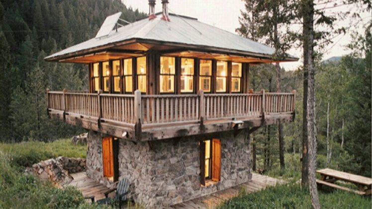 Judith Mountain Cabin is located in the mountains of Montana modeled after an old forest service fire tower designed by ...