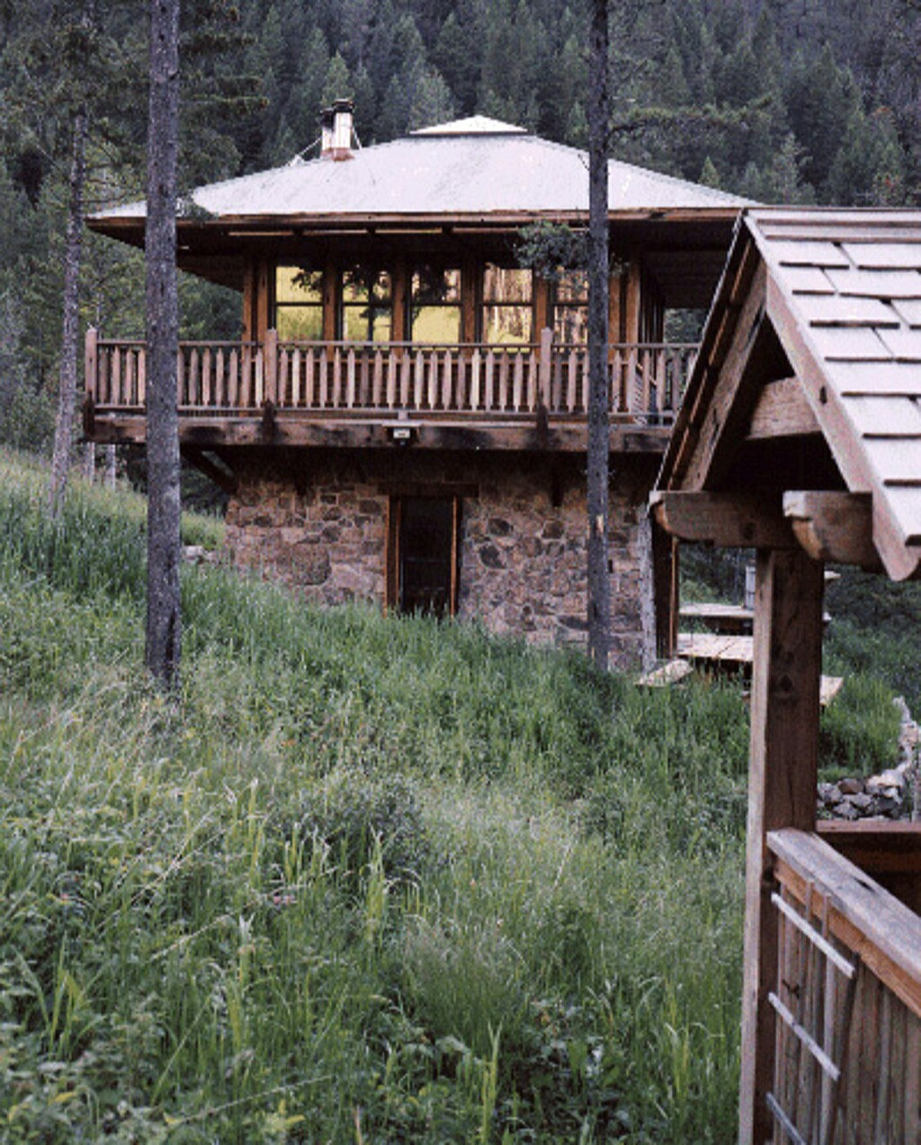 Fire tower house plans for Mountain cabin home plans