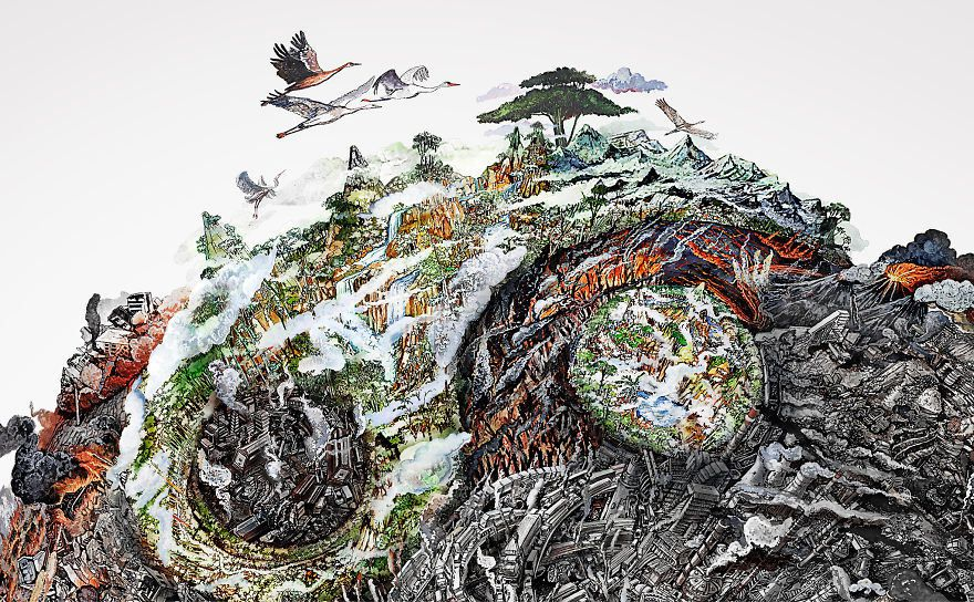 These Incredible Detailed Drawings Show The Harm We've Done To Mother Earth