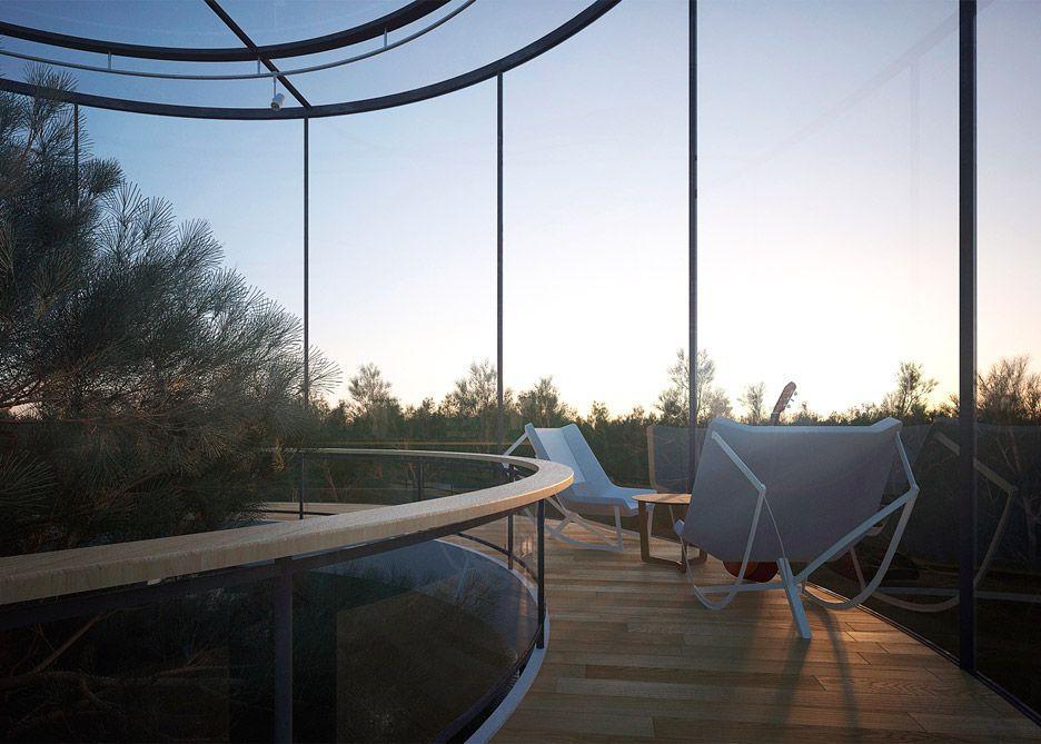Tubular glass house | Photo © A. Masow Architects