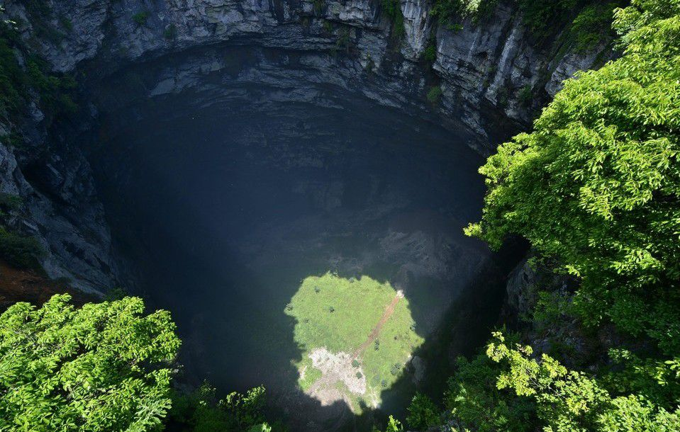 Mysterious Sinkhole Develops Beautiful And Unique Ecosystem