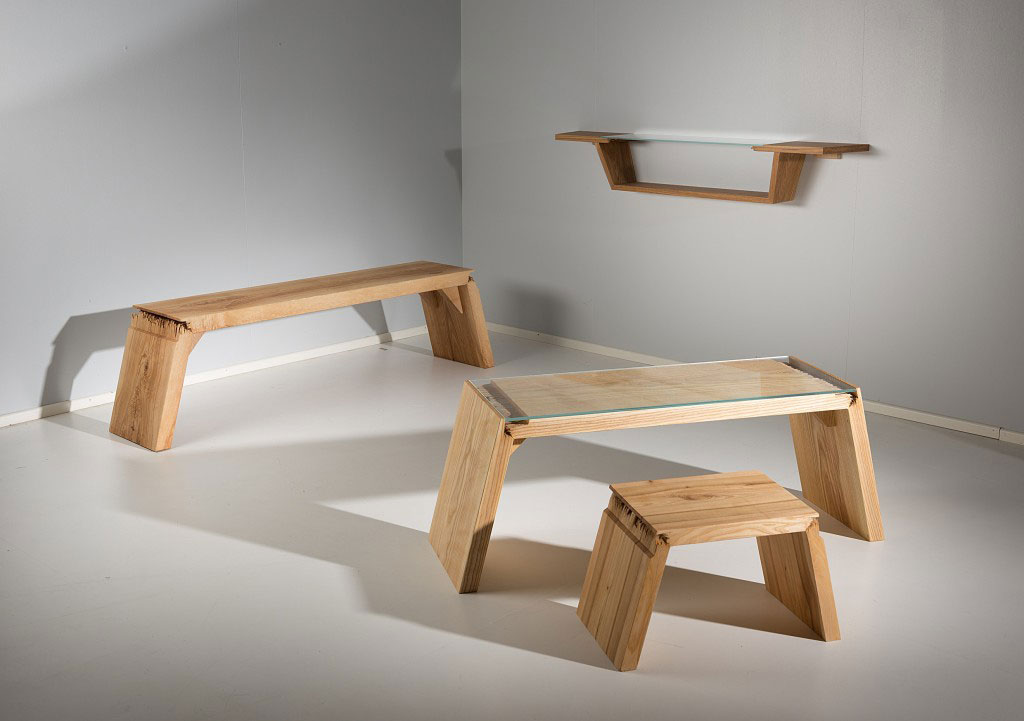 Salvaged Wood And Glass Turned Into Awesome Furniture