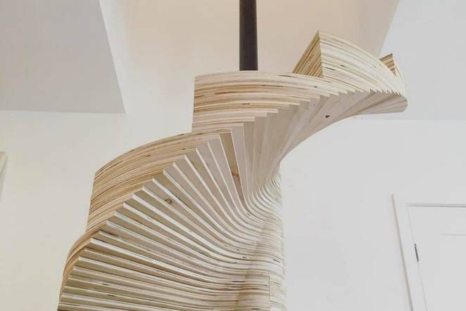 Build Your Own Spiral Staircase From Simple Plywood