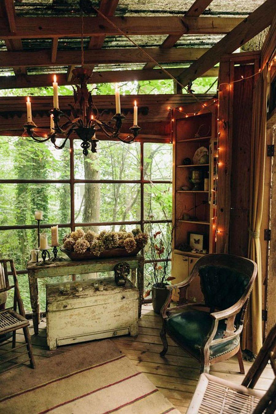 wood tree house room decoration design ideas