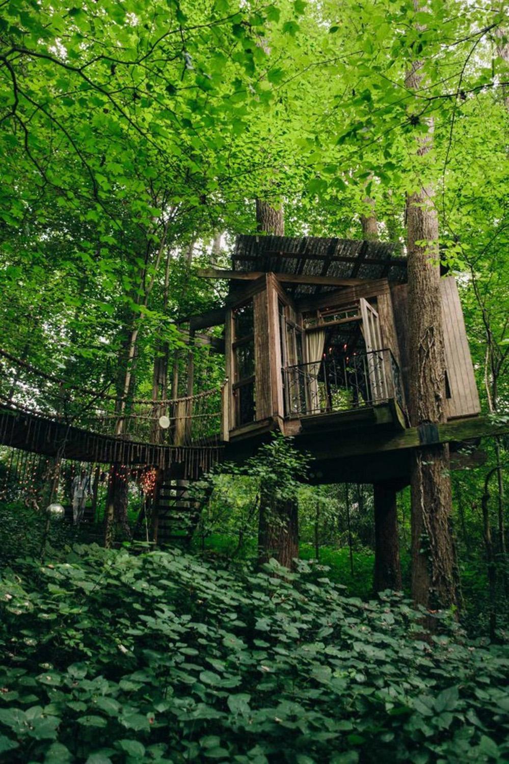 wood tree house design ideas