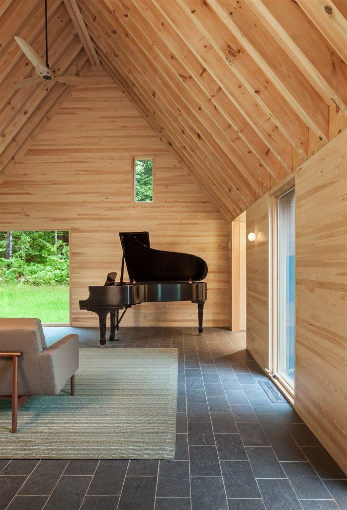 wood interior design ideas, wooden piano
