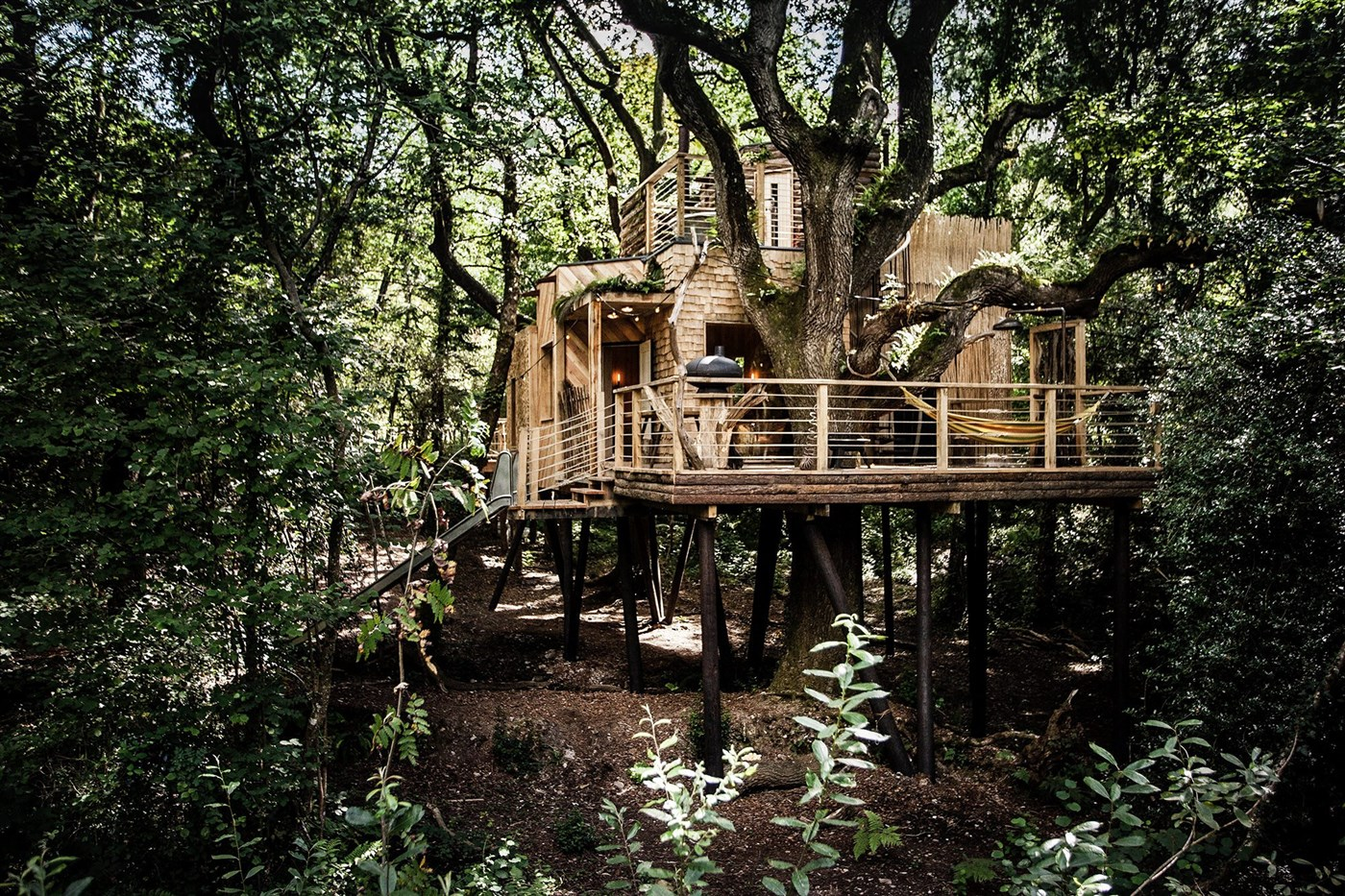 The Woodman's treehouse is the queen of treehouses. In addition to all the positive aspects that this fairy home has ...