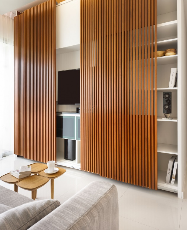 cozy wood screen ideas, living room
