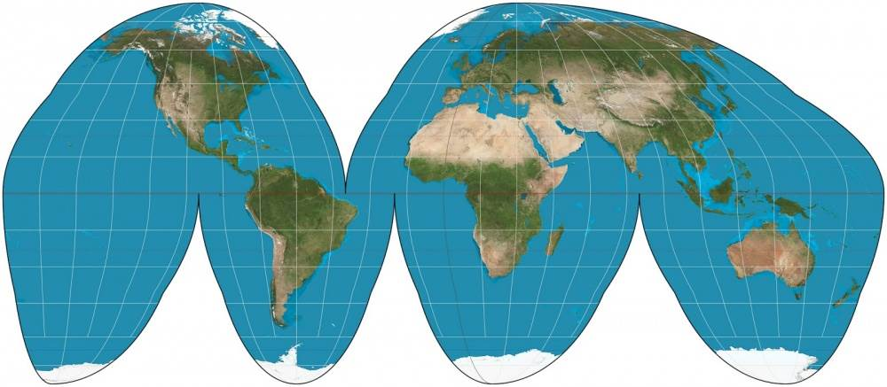 The Goode homolosine projection
