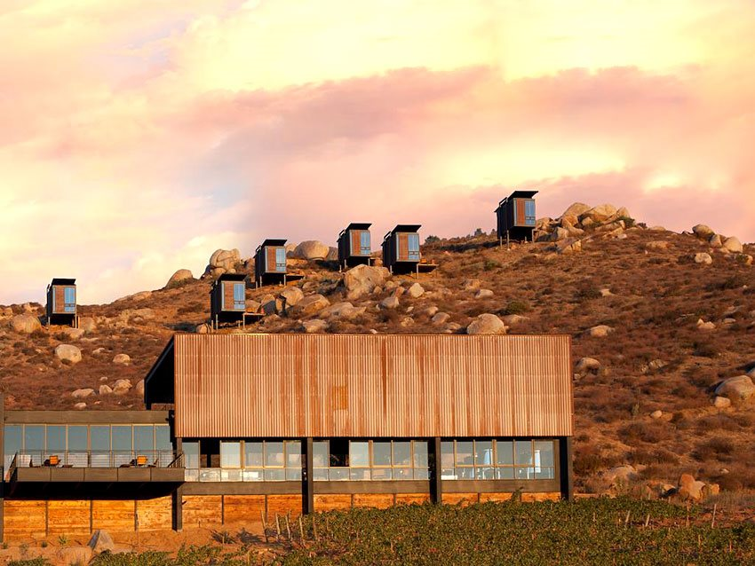 Encuerto Guadalupe is a luxurious hotel in central Valle de Guadalupeto with 20 small cabins which also fall within the ...