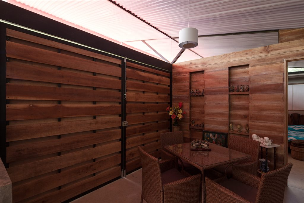 Wooden Interior in Environmentally adaptable cabin