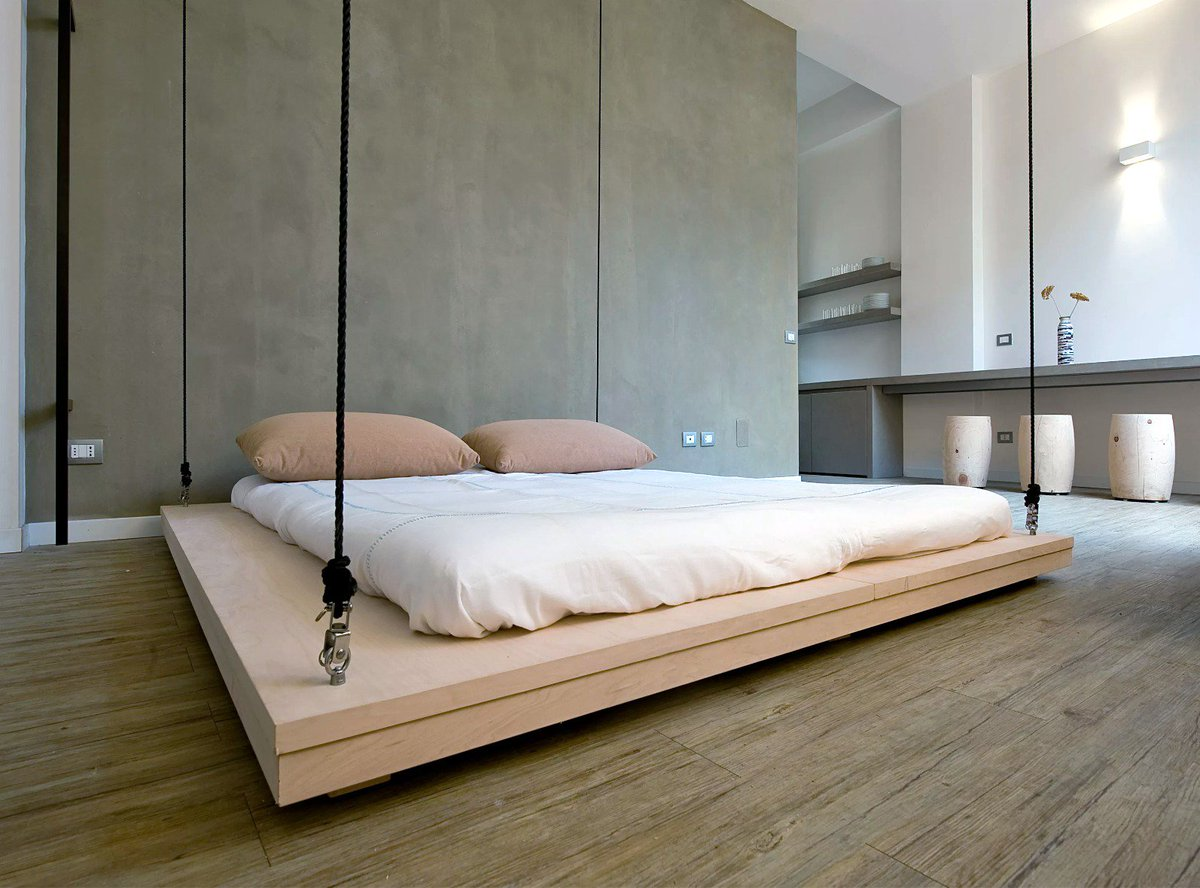 Wood suspended beds design ideas, hanging