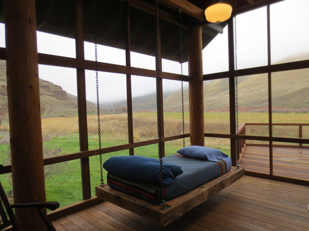 cozy wood suspended hanging beds design ideas