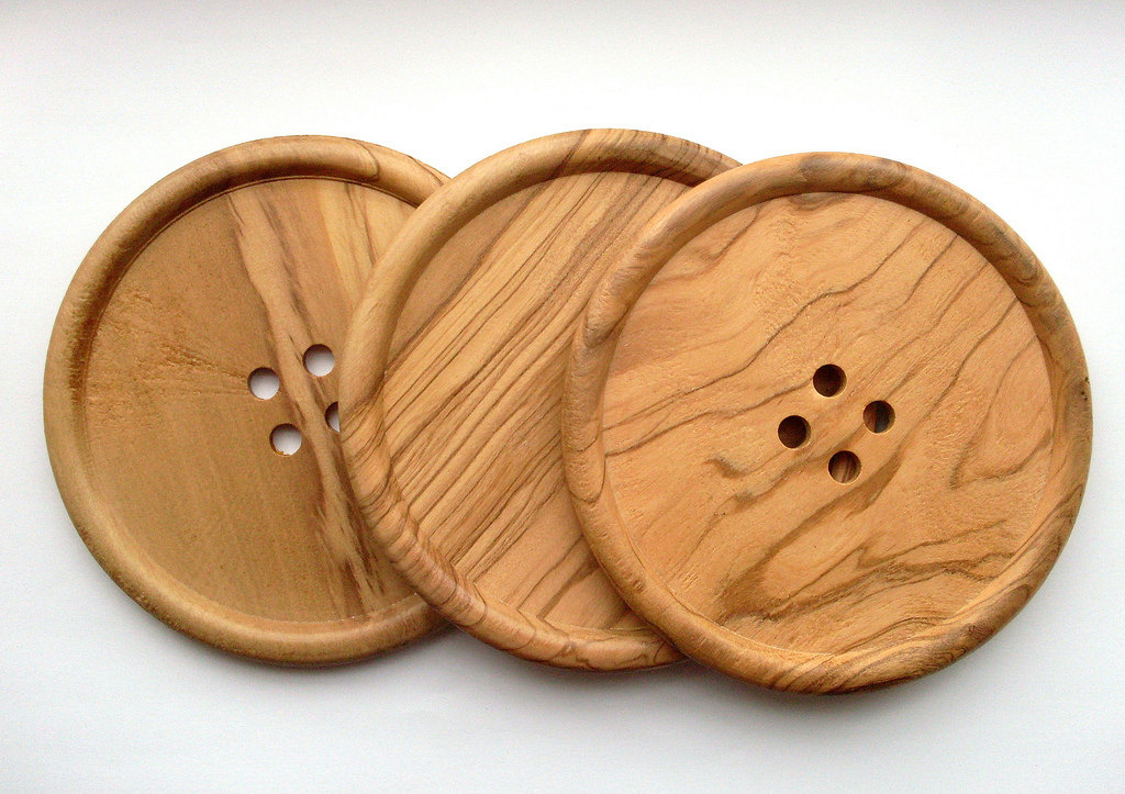 Giant wood button design ideas