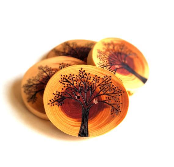cedar wood button design ideas
