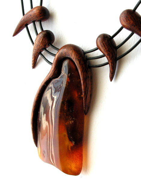 mahogany wood necklace design ideas, jewelry, black thong