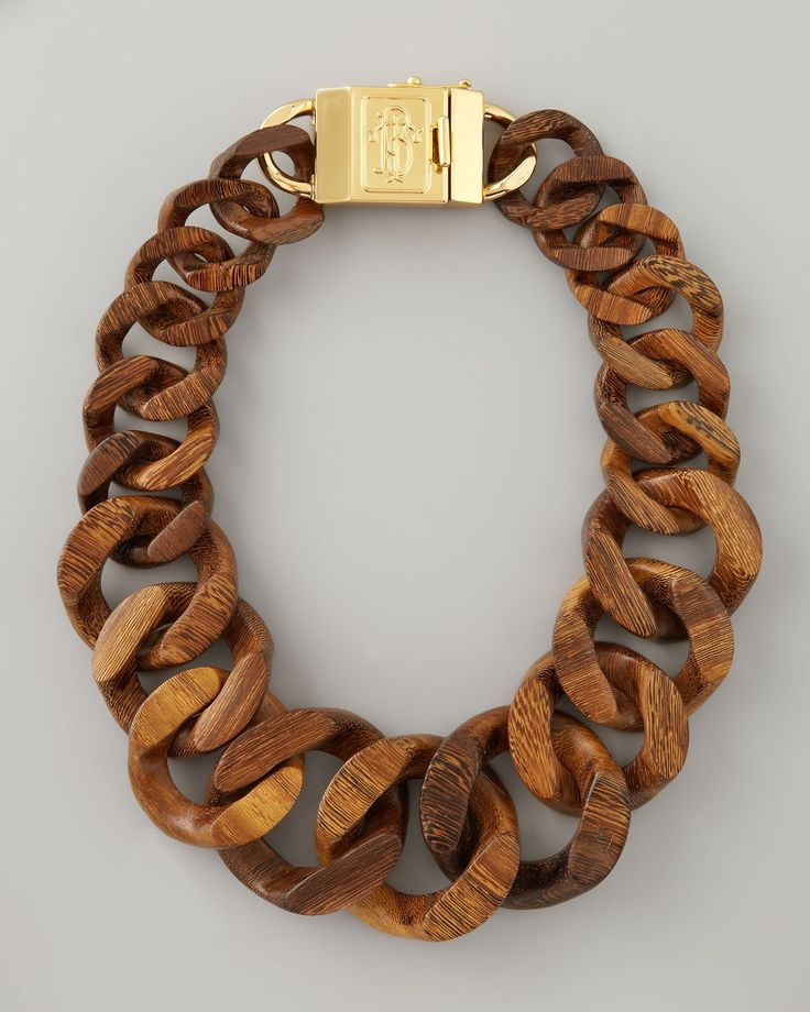 wooden curb chain, wood necklace design ideas, jewelry