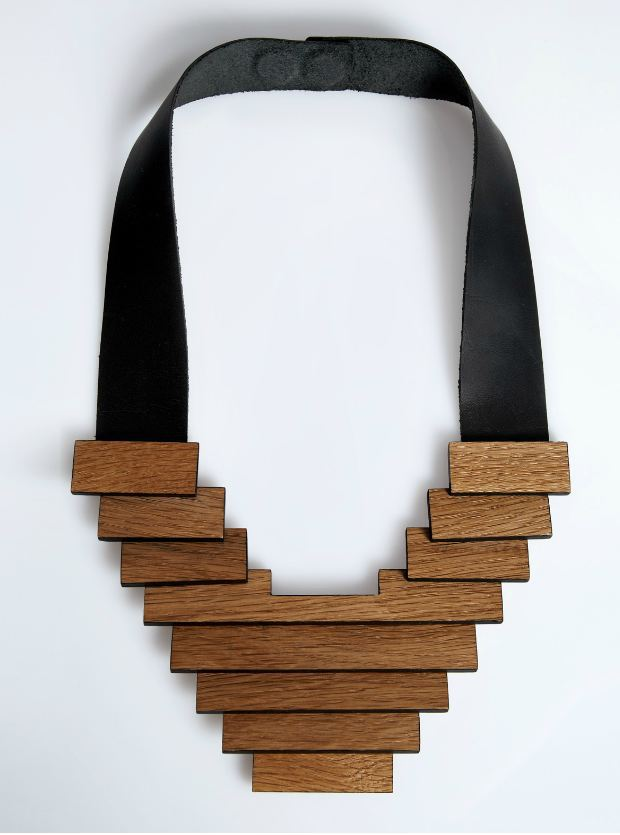 modern wood necklace design ideas, jewelry