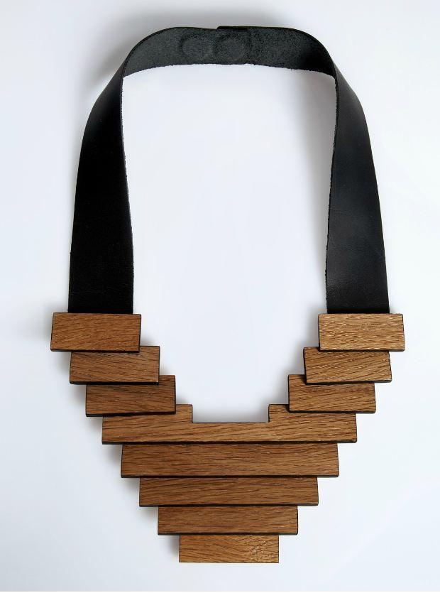 modern wood necklace design ideas, jewelry